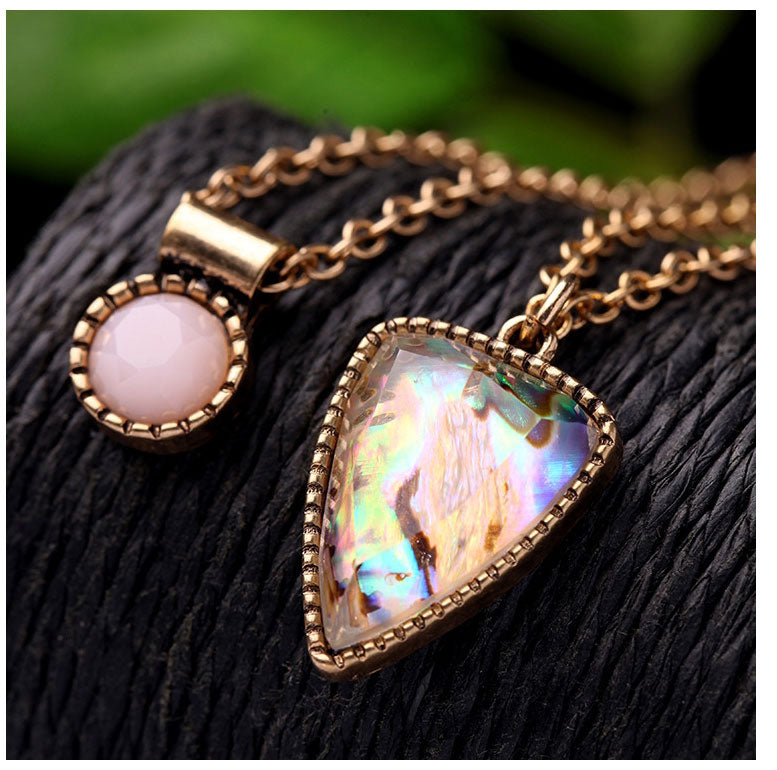 Elegant Multi Layered Geo Necklace