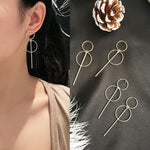 Simple Double Circle Earrings