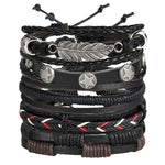 Multi Layer Rope Leather Bracelet