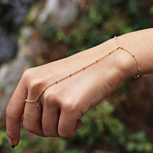 Tiny Gold Beaded Slave Bracelet
