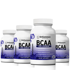 4 Bottles of BCAA Label