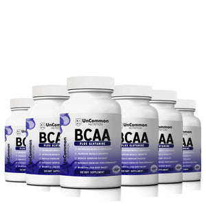 6 Bottles of BCAA Label