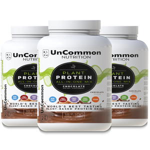 3 Containers of Uncommon Nutrition Plant Protein Chocolate