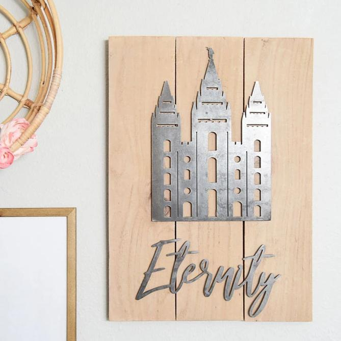 "Eternity 16.5"" X 22"" Rustic Metal Temple Wall Decor (guaranteed delivery by Christmas)"