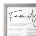 The Living Christ, The Family: A Proclamation to the World, The Articles of Faith | LDS Proclamations Modern Wall Decor Signs)