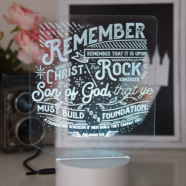 Rock of Our Redeemer - Helaman 5:12 LED Night Light