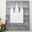 Latter-Day Temple Wall Decor - Pallet Surface