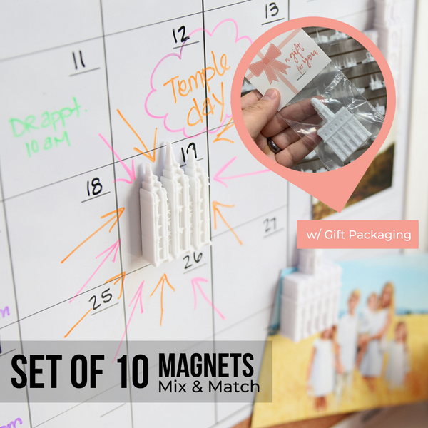 10 Temple Magnets - Gift Ready