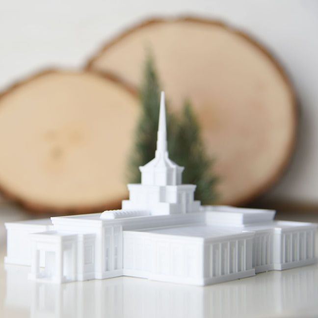 Billings Montana Temple Replica Statue