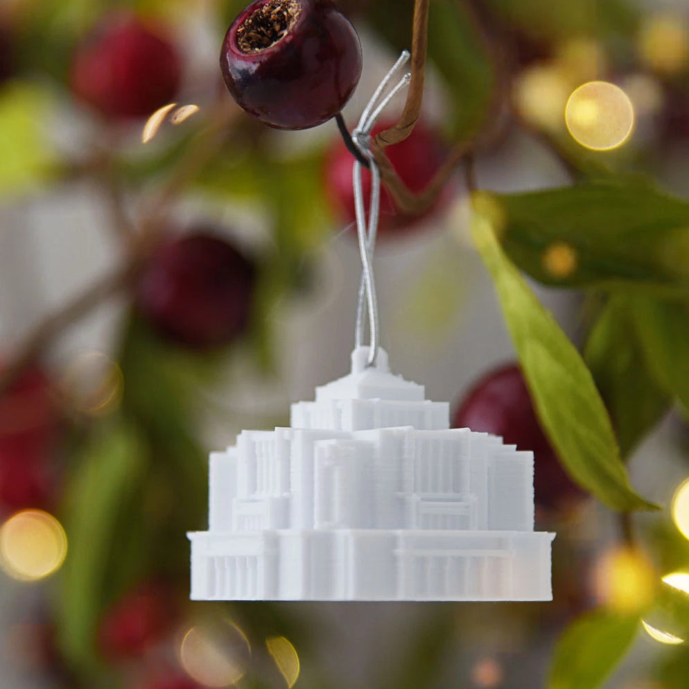 Cardston Alberta Temple Christmas Ornament