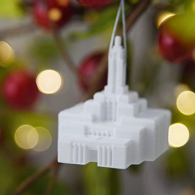 Draper Utah Temple Christmas Ornament