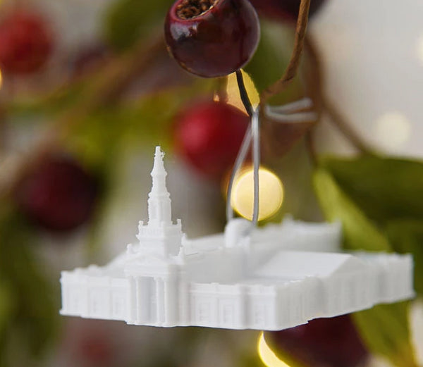 Hartford Connecticut Temple Christmas Ornament