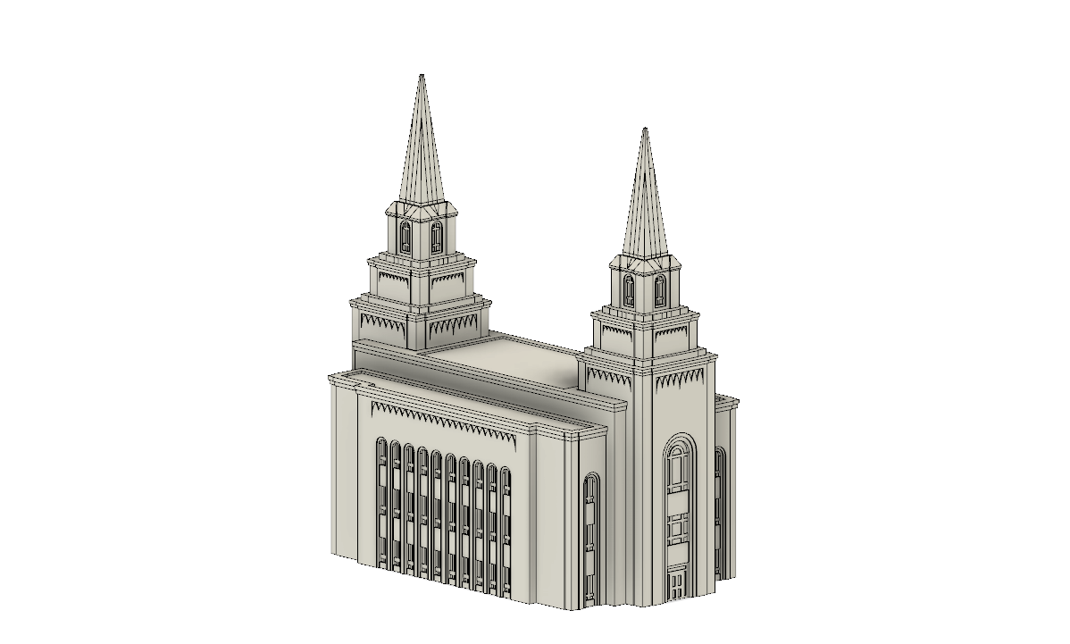 Kansas City Missouri Temple Replica Statue