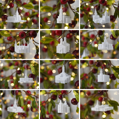 Latter-day Temple Christmas Ornaments