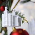 Temple Christmas Ornament (choose any temple)