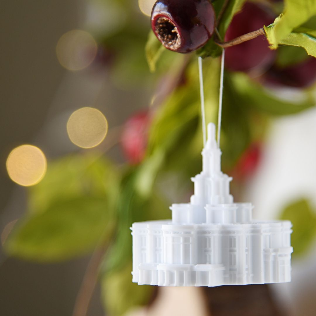 Payson Utah Temple Christmas Ornament