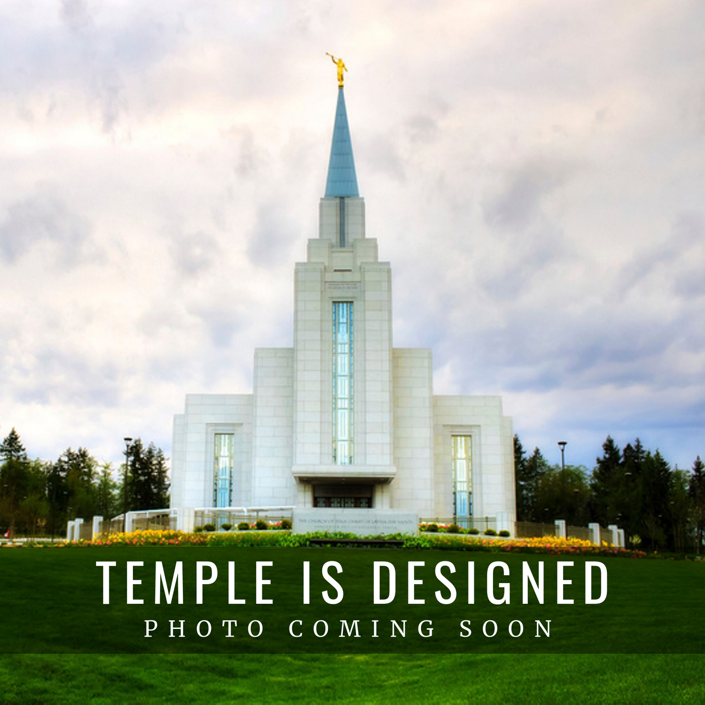 Vancouver British Columbia Temple Christmas Ornament (back ordered until January 15th)