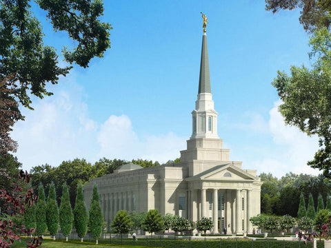 Richmond Virginia Temple Christmas Ornament