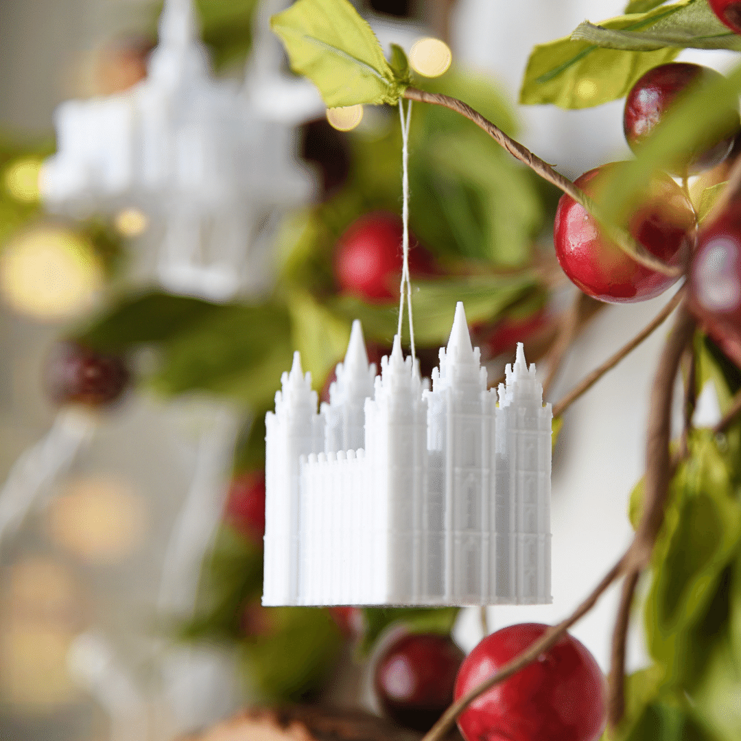 Salt Lake City Temple Christmas Ornament