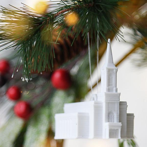 Star Valley Wyoming Temple Christmas Ornament