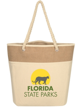 Load image into Gallery viewer, Burlap Rope Tote Bag