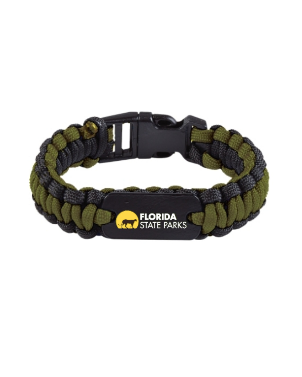 Paracord Bracelet With Metal Plate