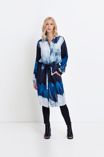Water Print Jacket Dress