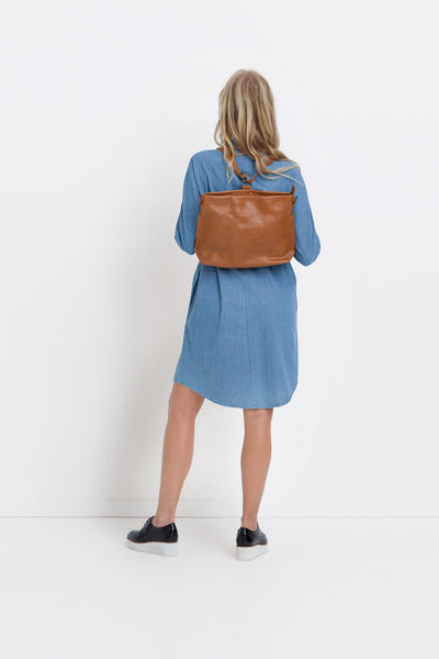 Tan Nuoli Mini Backpack