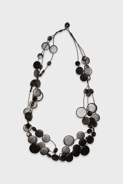 Multi Disc Wood Necklace