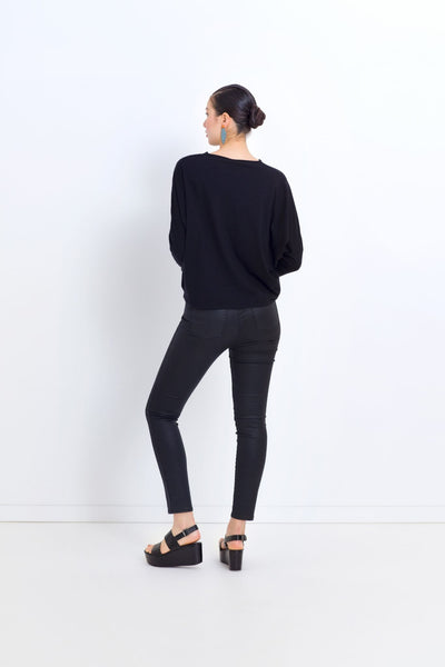 Oslo-coated-denim-jeans-black-model-back