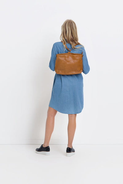 Cognac Nuoli Mini Backpack