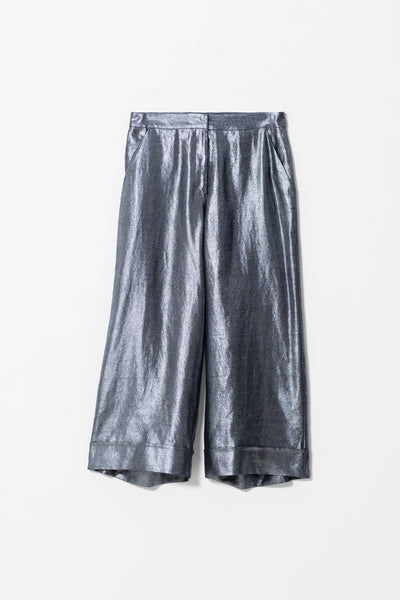 Metallic Linen Pants