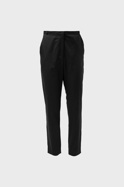 Aira Cotton Tailored Pant Front | Black