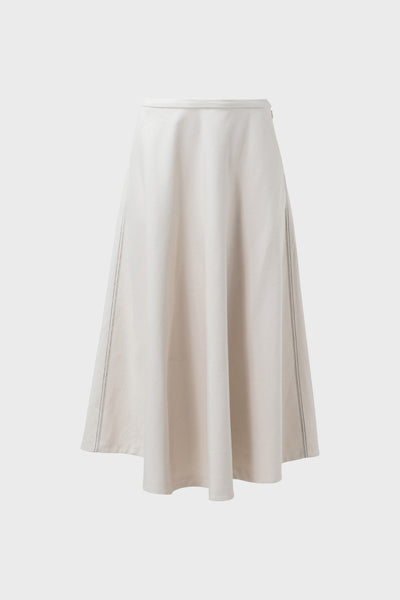 Kadi Circle Cotton Skirt Front Natural