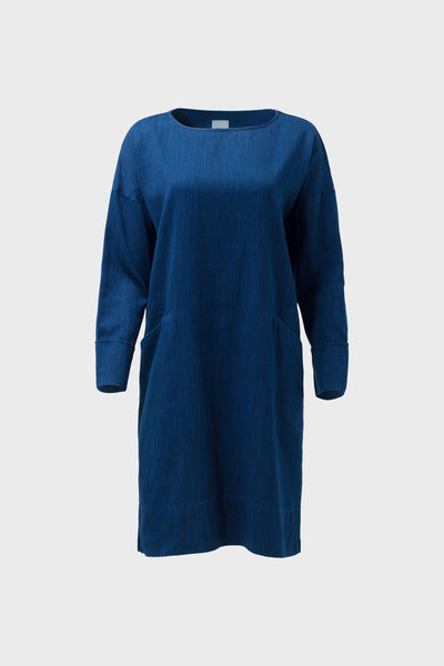 Karrie-long-sleeve-dress-indigo-blue-front