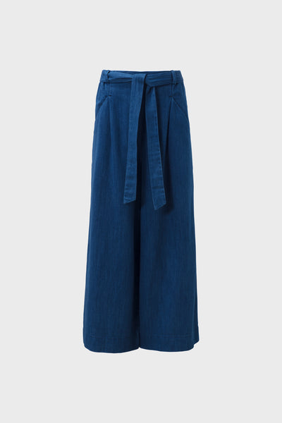 Karrie-wide-legged-pant-indigo-blue-front