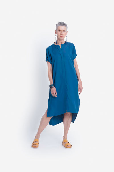 Bilds Loose Fit Shirt Dress Model Front | SAPPHIRE
