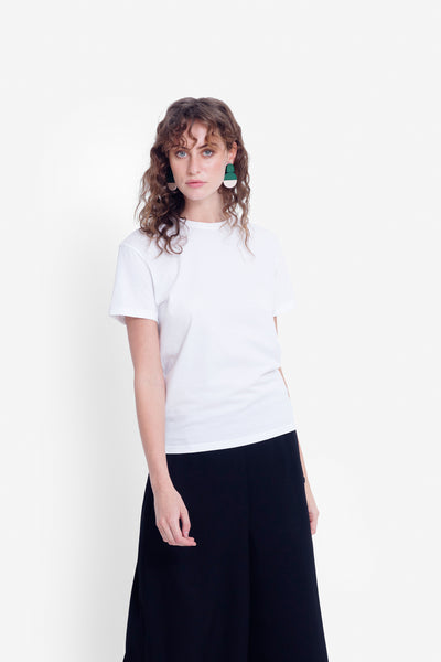 Henning Organic Cotton Tee Model Front | WHITE