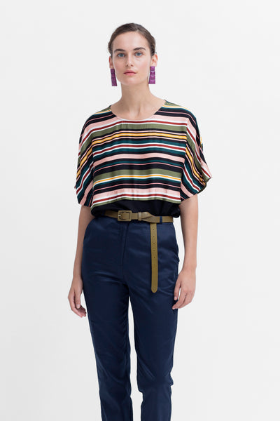 Anitra Bright Stripe Top Model Styled Front BRIGHT STRIPE