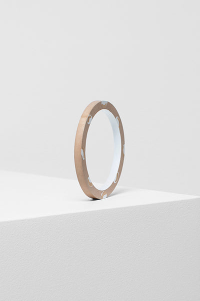 Poppy Printed Timber Bangle Side Angled NATURAL