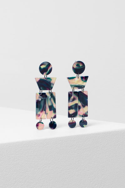 Hilma Shapes Earrings  NAVY
