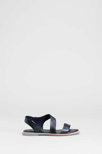 Ittre Leather Multi Strap Sandals Side | BLACK