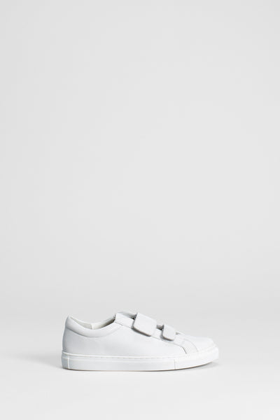 Roscoe Velcro Strap Trainer Side WHITE