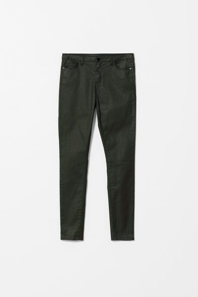 Olive Coated Oslo Jeans