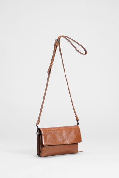 Gelika Leather Crossbody Bag Front | Tan