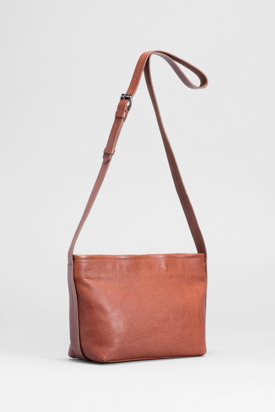 Canutte Leather Bag Front | TAN / TAN