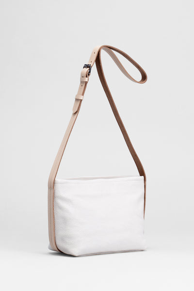 Canutte Leather Bag Front | BLANC / NATURAL