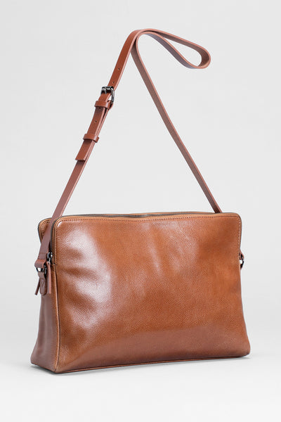 Dammei Leather Bag Front TAN