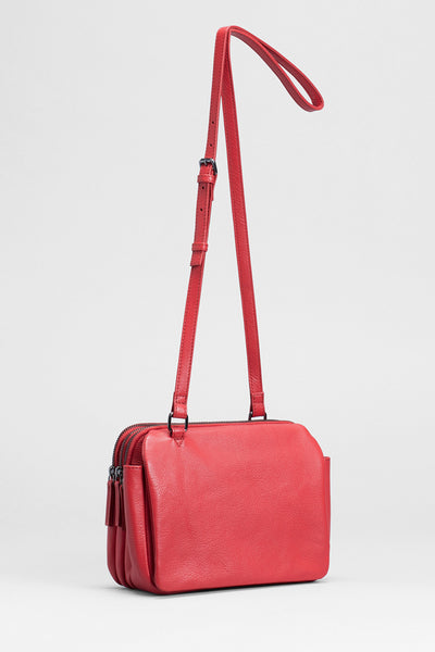 Leone Colourful Leather Bag Front RED
