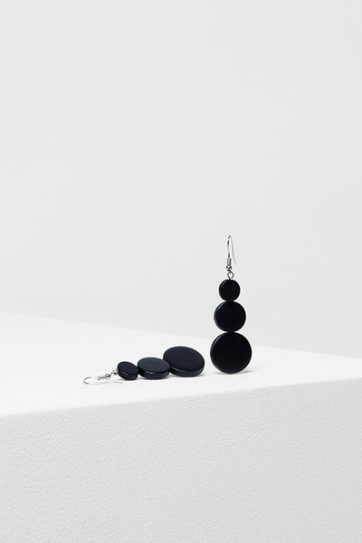 3 Drop Disc Earrings